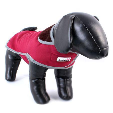 Doodlebone przeciwdeszczowy kubraczek dla psa red rozm M
