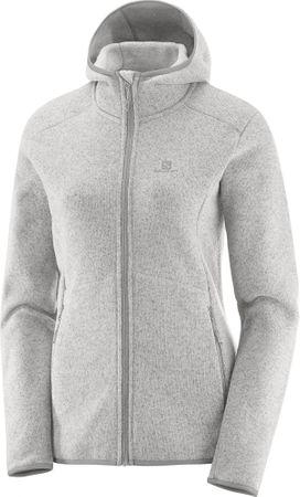 Salomon bluza polarowa Bise Hoodie W Vaporous Gray XS