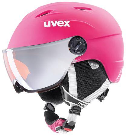 Uvex Uvex Kask dziecięcy Junior Visor Pro Pink Mat (54-56)