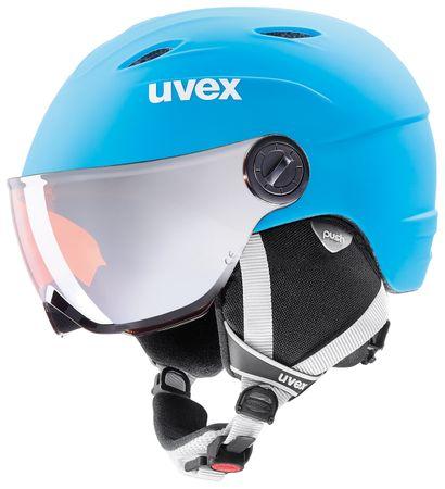Uvex Uvex Kask dziecięcy Junior Visor Pro Lite Blue/White Mat (54-56)