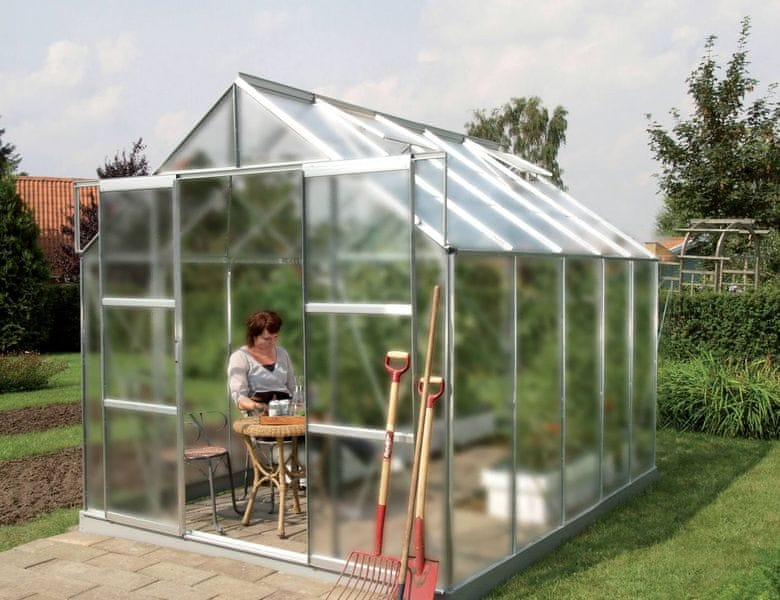 VITAVIA skleník VITAVIA URANUS 8300 matné sklo 4 mm stříbrný