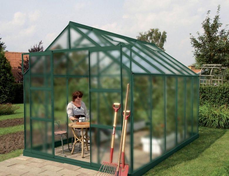 VITAVIA skleník VITAVIA URANUS 9900 matné sklo 4 mm zelený
