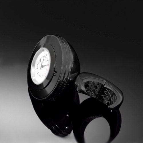 Highway-Hawk hodinky SPACE na řídítka o průměru 25/32mm, černá/bílý ciferník