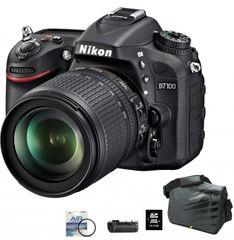 Nikon digitalni fotoaparat D7100 kit 18-105VR+FATBOX+UV+GRIP