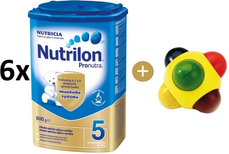 Nutrilon 5 Pronutra - 6 x 800g + SES Barevná kulička
