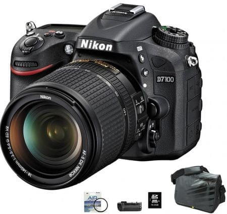 Nikon digitalni fotoaparat D7100 kit 18-140VR+FATBOX+FILTER+GRIP
