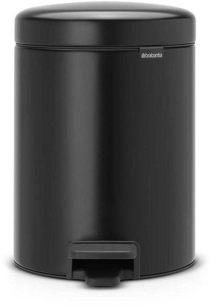 Brabantia Pedálový koš newIcon 5 l, matná černá