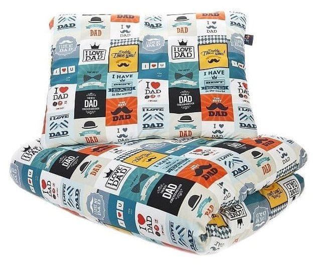 CuddlyZOO Souprava deka + polštář, vel bílá/modrá