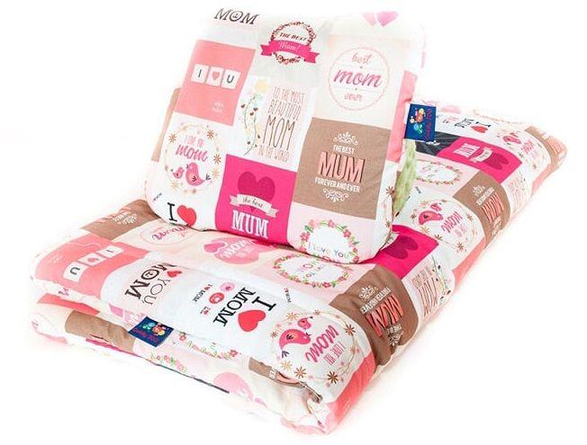 CuddlyZOO Souprava deka + polštář, ve bílá/růžová