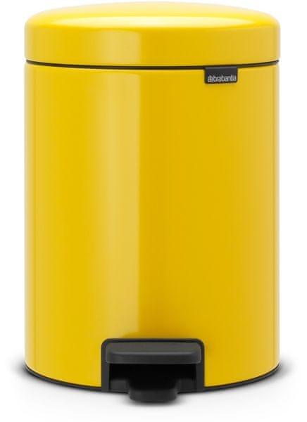 Brabantia Pedálový koš newIcon 5 l, žlutá