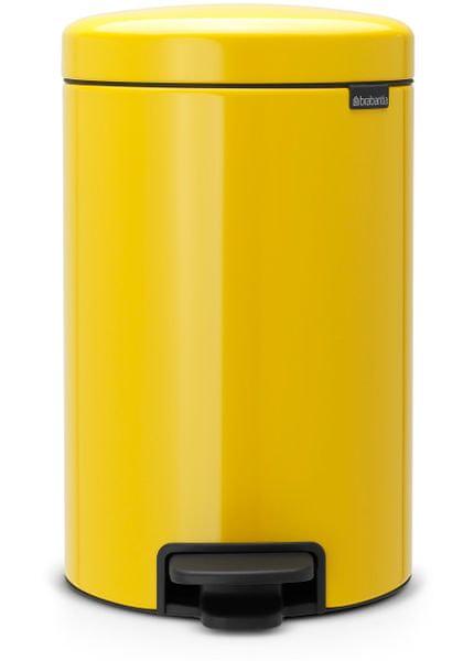 Brabantia Pedálový koš newIcon 12 l, žlutá