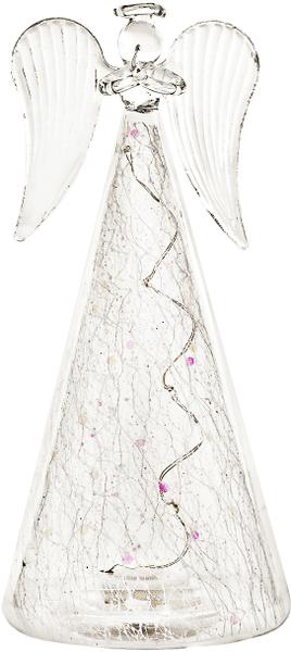 Decorium Svítící anděl skleněný, 18 cm