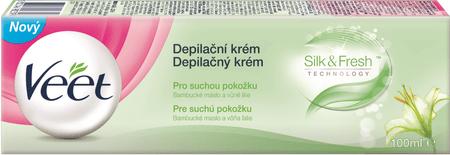 Veet Silk & Fresh depilacijska krema za suho kožo, 100 ml