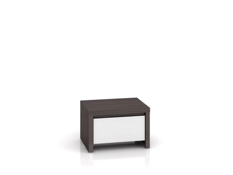 KASPIAN, noční stolek KOM1S, bílý vysoký lesk