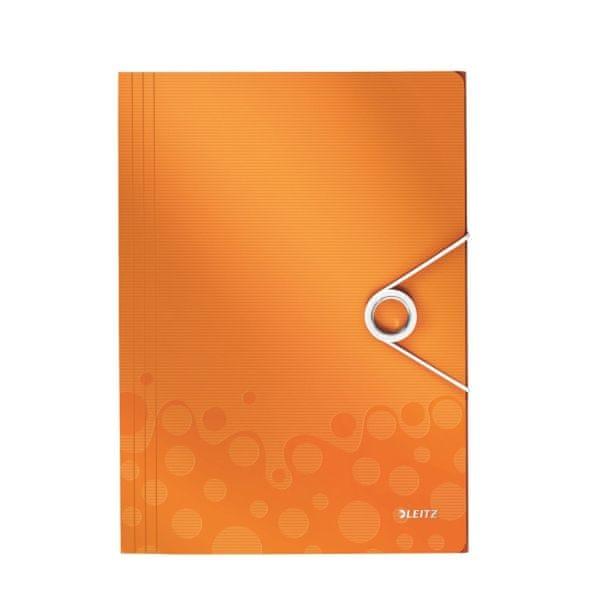 Desky na spisy Leitz WOW metalicky oranžové