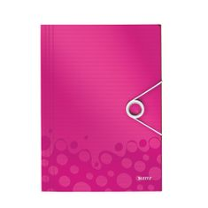 Desky na spisy Leitz WOW metalicky růžové