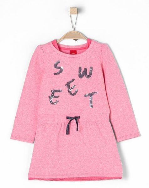 s.Oliver dívčí šaty 116 růžová