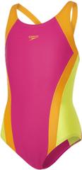 Speedo Dziewczęcy strój kąpielowy Contrast Panel Splashback