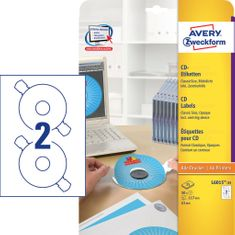 Avery Zweckform etikete L6015-25, Ø 117 mm, za CD