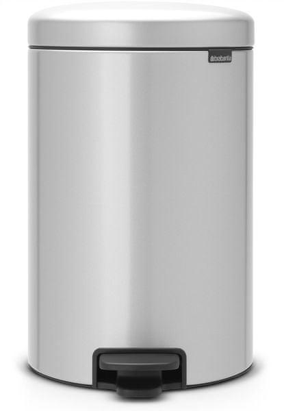 Brabantia Pedálový koš newIcon 20 l, metalická šedá