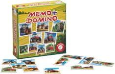 Piatnik Pexeso&Domino-Traktory