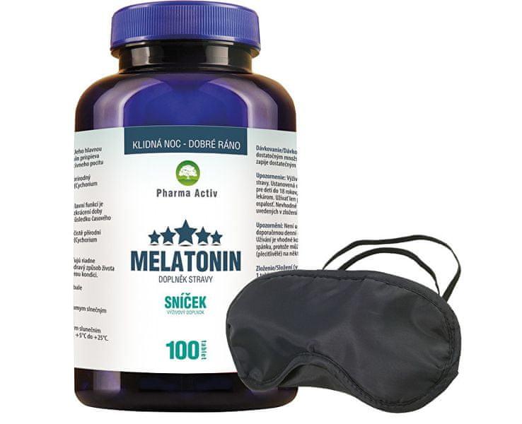 Pharma Activ Melatonin 80 tbl. + 20 tbl. ZDARMA + Škraboška na spaní ZDARMA