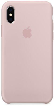 Apple Silikonový kryt, Apple iPhone X, MQT62ZM/A, pískově růžová - rozbaleno