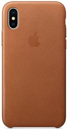 Apple silikonski ovitek Leather Case za Apple iPhone X, MQTA2ZM/A, Saddle Brown