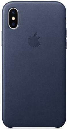 Apple Kožený kryt, Apple iPhone X, MQTC2ZM/A, půlnočně modrá