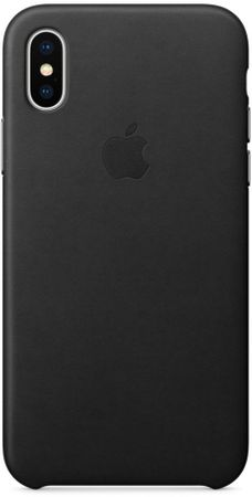 Apple usnjen ovitek Leather Case za Apple iPhone X, črn