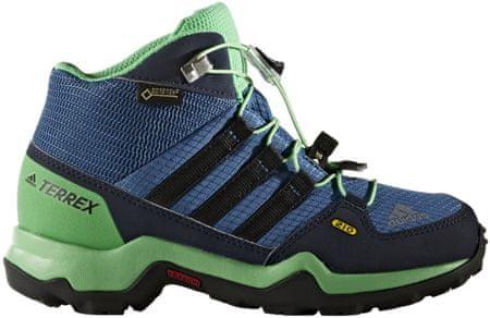 Adidas otroški pohodni čevlji Terrex Mid GTX Kids, modro/črno/zeleni, 35,5