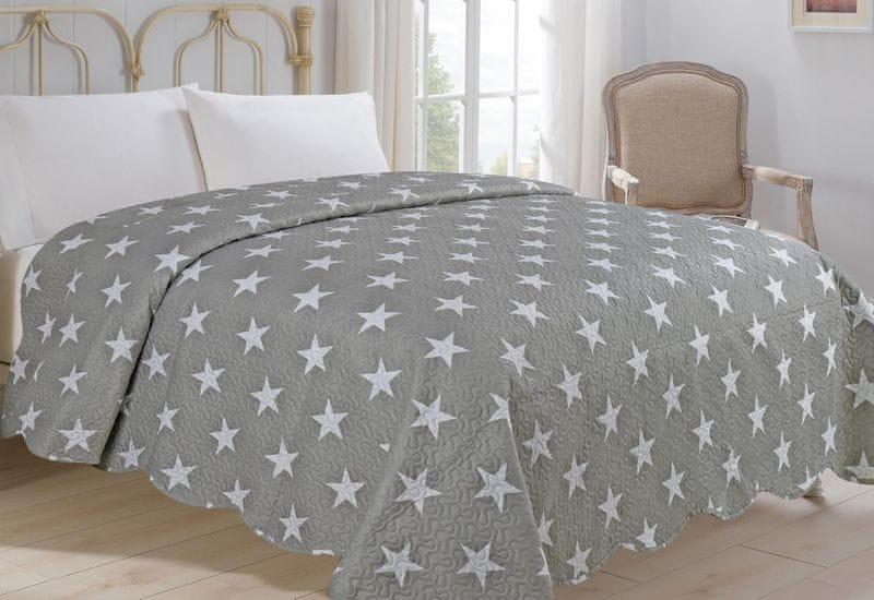 Jahu my House Přehoz přes postel Stars 220x240 cm