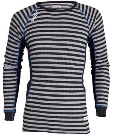 Swix RaceX majica z dolgimi rokavi črtasta črno siva, L