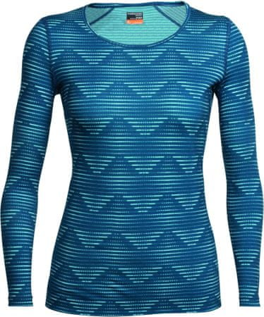 Icebreaker Wmns Oasis LS Scoop Diamond Line Ice Blue L