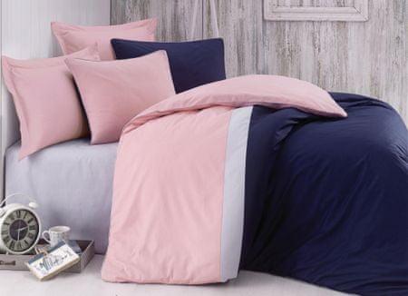 Cottonbox Pościel bawełniana Pinky Blue 200x220 / 70x90 + 70x90
