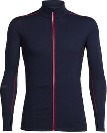 Icebreaker Mens Incline LS Zip Midnight Navy/Rocket XL