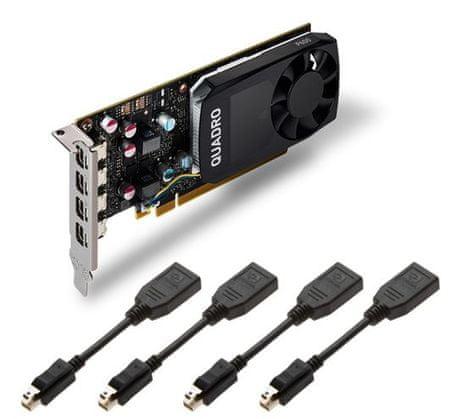 PNY grafična kartica NVIDIA Quadro P600 2GB GDDR5, PCIe 3.0 x16, LP, 4x mDP (VCQP600-PB)
