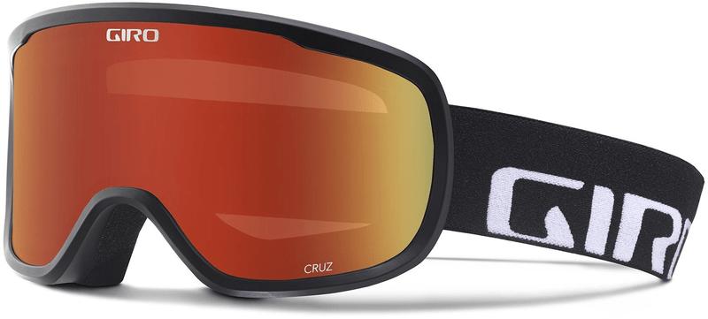 Giro Cruz Black Wordmark/Amber Scarlet