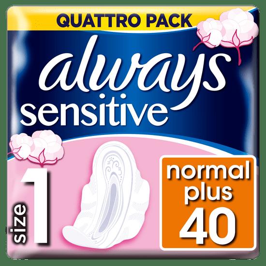 Always podpaski ze skrzydełkami Ultra Sensitive Normal (rozmiar 1), 40szt.
