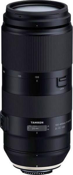 Tamron 100-400 mm AF f/4,5-6,3 Di VC USD pro Nikon (5 let záruka)