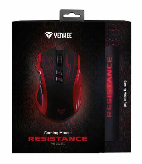 Yenkee herní myš Resistance (YMS 3028RD)