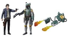 Star Wars E8 Dvě deluxe figurky Force Link - Han Solo