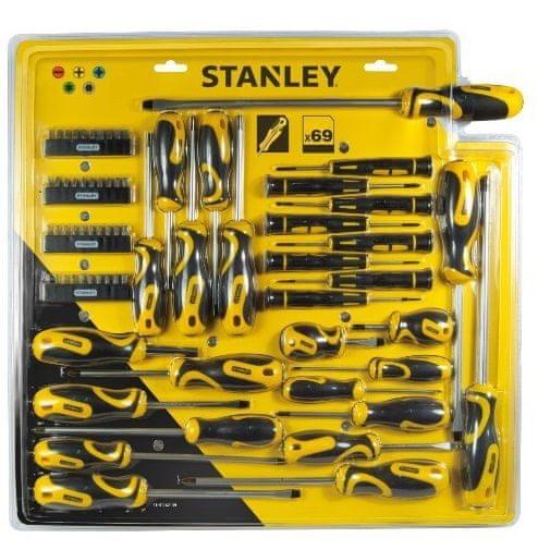 Stanley 69dílná sada šroubováků