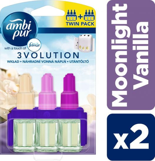 Ambi Pur wkład do odświeżacza powietrza 3Volution Moonlight Vanilla, 2 x 20ml