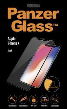 PanzerGlass zaščitno steklo Premium za iPhone X, črno