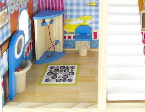 Bino Domeček s nábytkem 17 ks