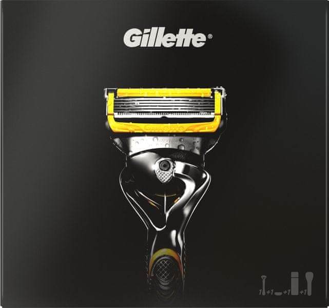 Gillette Fusion ProShield Holící strojek + Gel na holení 170 ml + Cestovní pouzdro