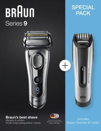 Braun brivnik Series 9-9260 + urejevalnik brade BT5090