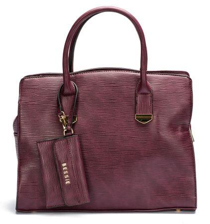 Bessie London ženska ročna torbica UNI vinska