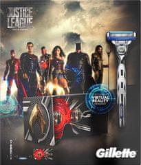 Gillette Mach3 Turbo britvica + 2 zamjenske glave + set za virtualnu stvarnost Justice League